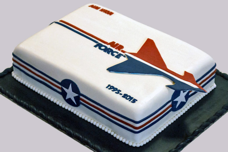 Aim High Era United States Air Force Retirement Cake on Cake Central