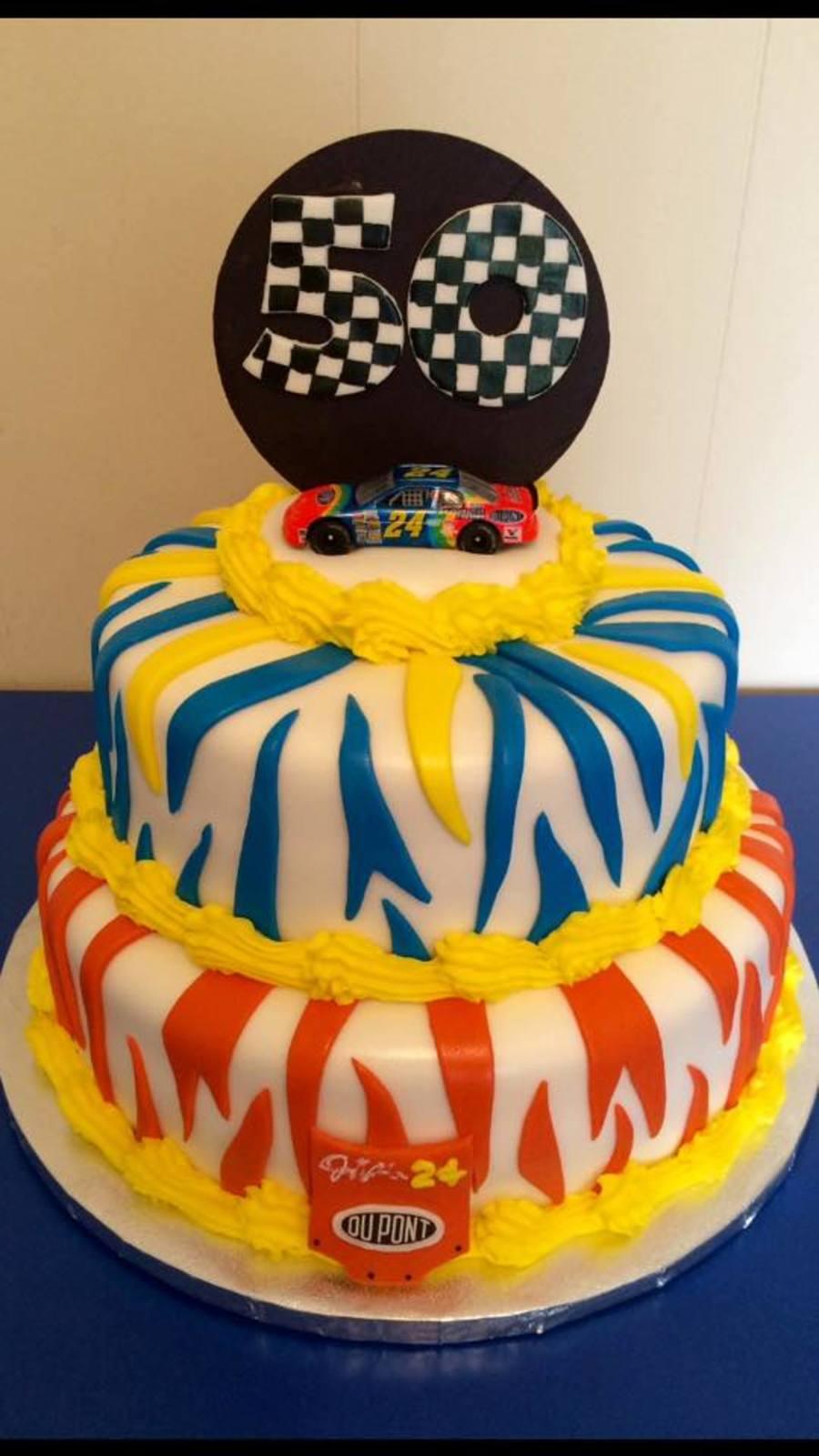 Jeff Gordon Fan 50th Birthday Cake Cakecentral