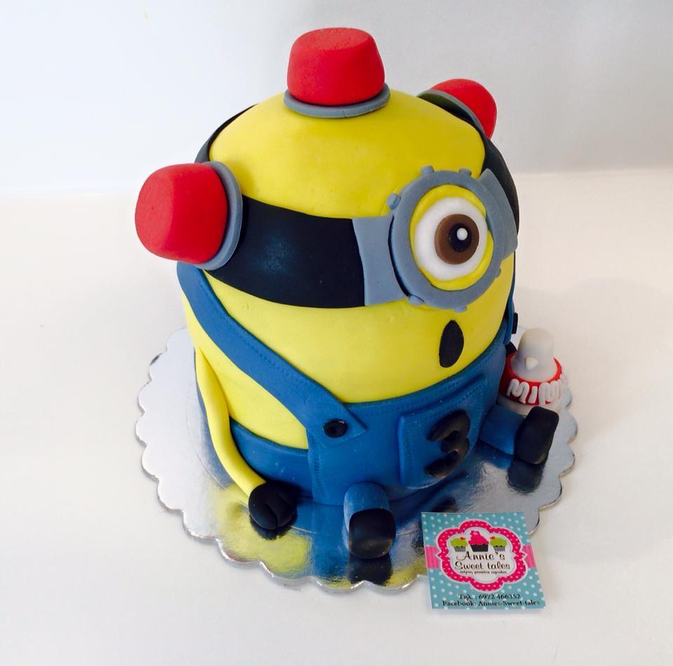 Firefighter Minion Cake