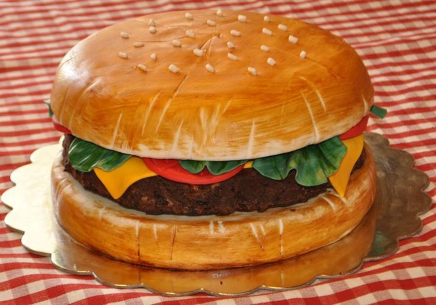 Hamburger Birthday Cake Images