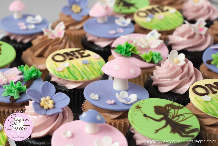 Whimsical woodland fairies cupcakes for How to make fairy cupcakes