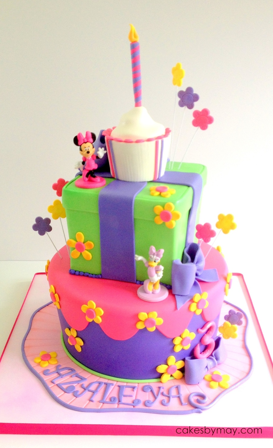 Excellent Minnie And Daisy Birthday Cakecentral Com Personalised Birthday Cards Vishlily Jamesorg
