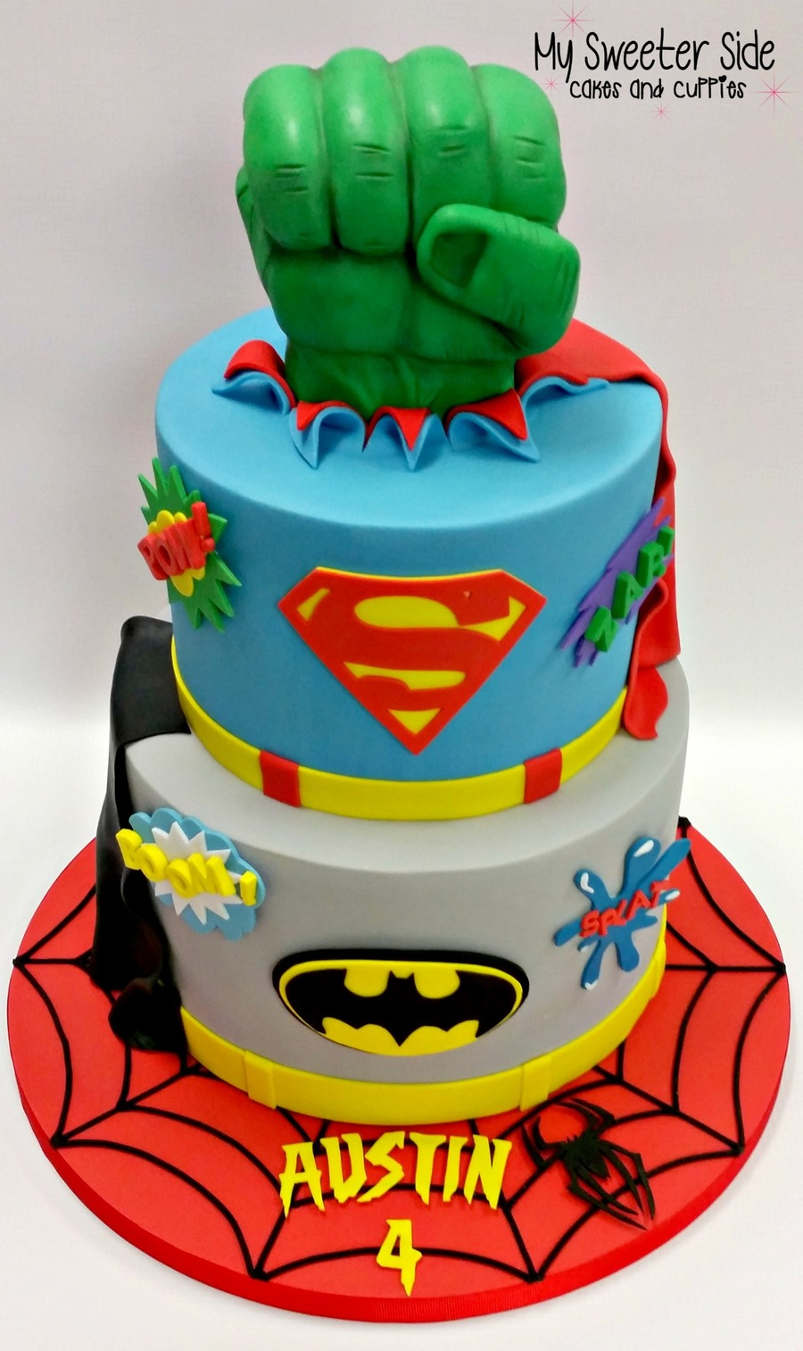 Easy Superhero Birthday Cake