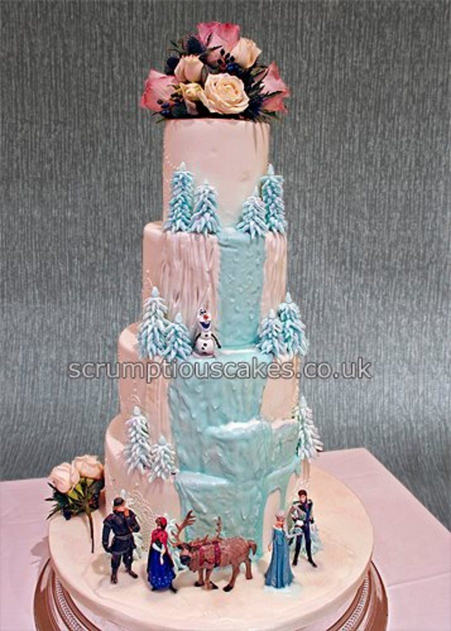 how to prepare frozen wedding cake frozen themed wedding cake cakecentral 16103