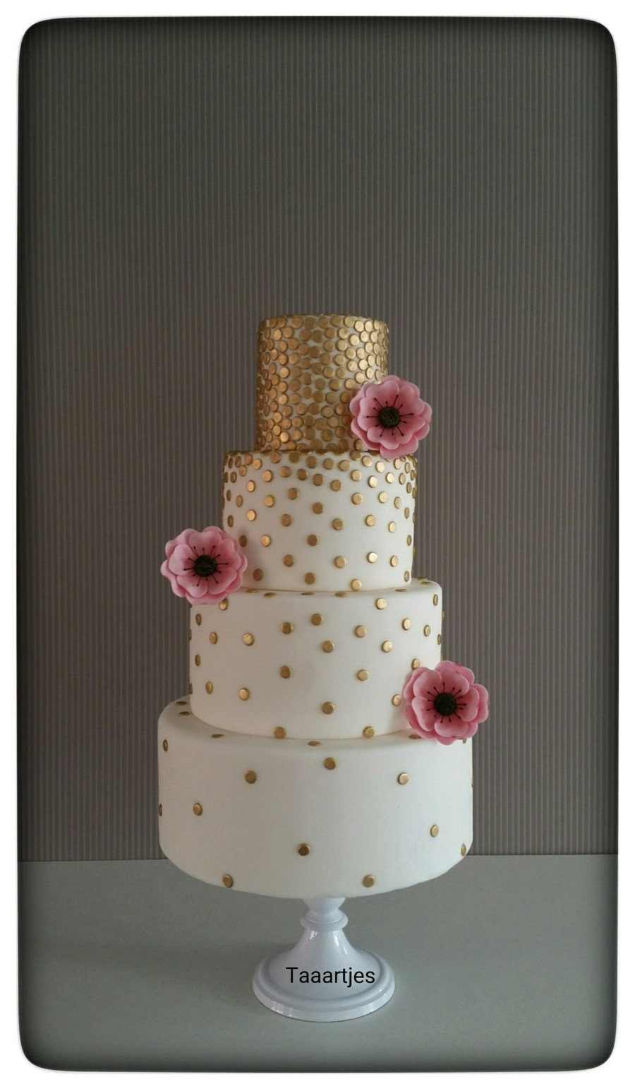 Golden Dots Cake on Cake Central