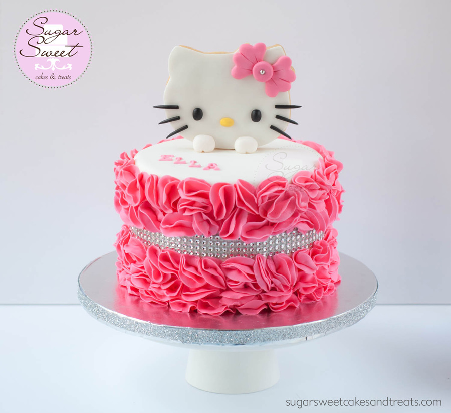 Hello Kitty Ruffled Cake Cakecentral Com