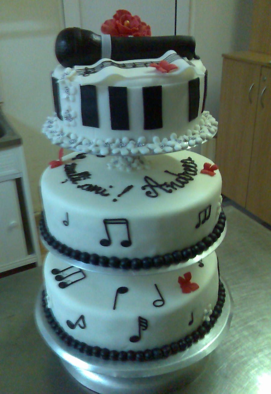 Microphone Cake Cakecentral Com