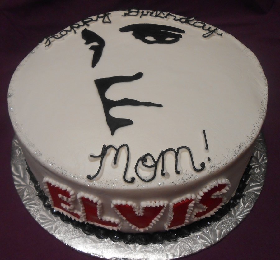 Elvis Presley Silhouette Cakecentral Com