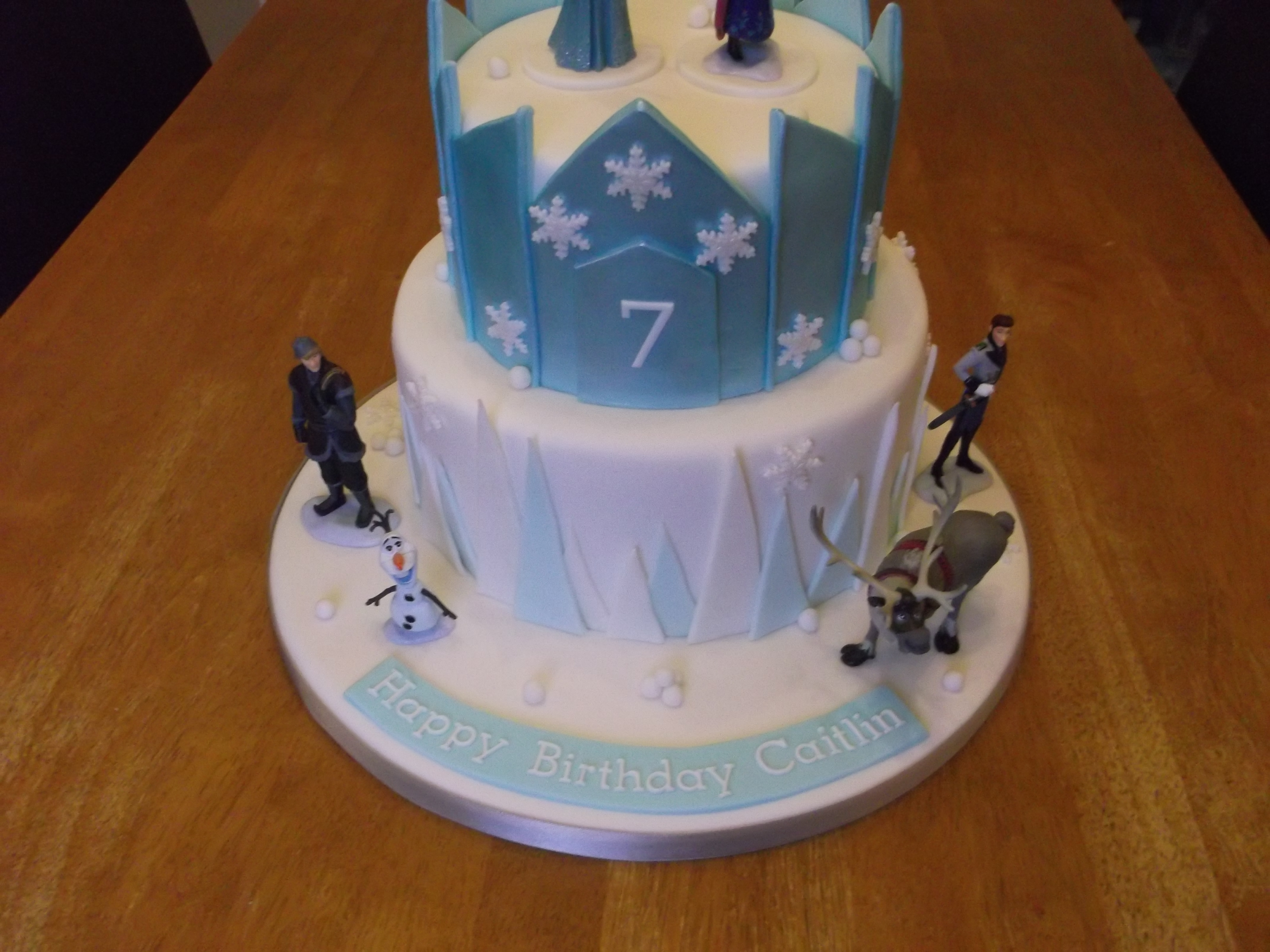 Enjoyable Frozen Castle Cake Cakecentral Com Funny Birthday Cards Online Overcheapnameinfo