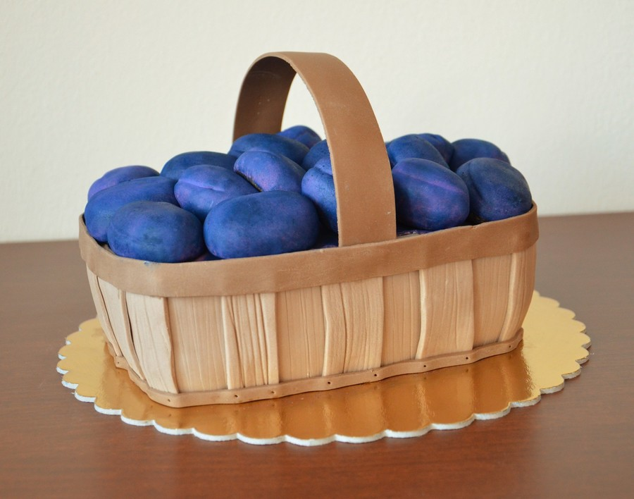 Plums In A Basket on Cake Central