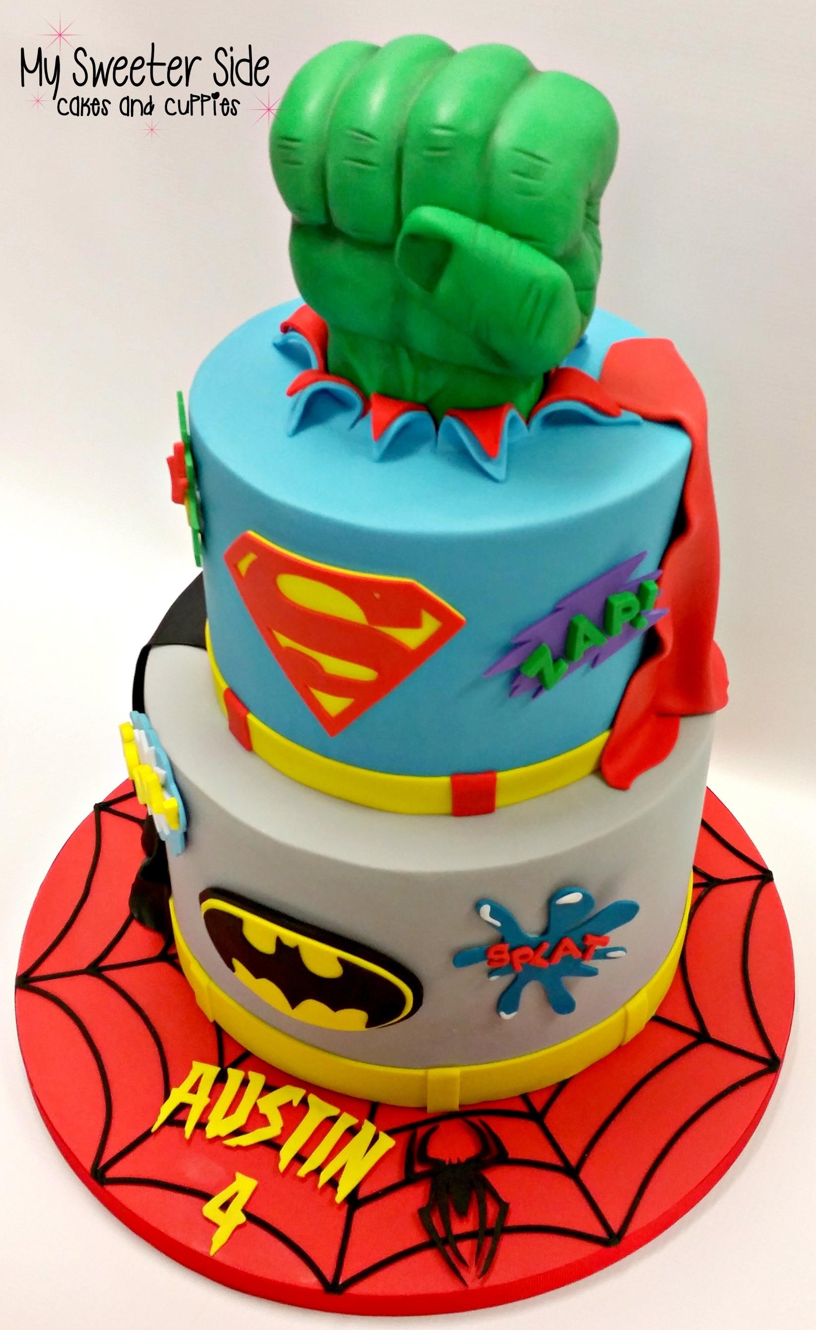 Superhero Cake CakeCentralcom