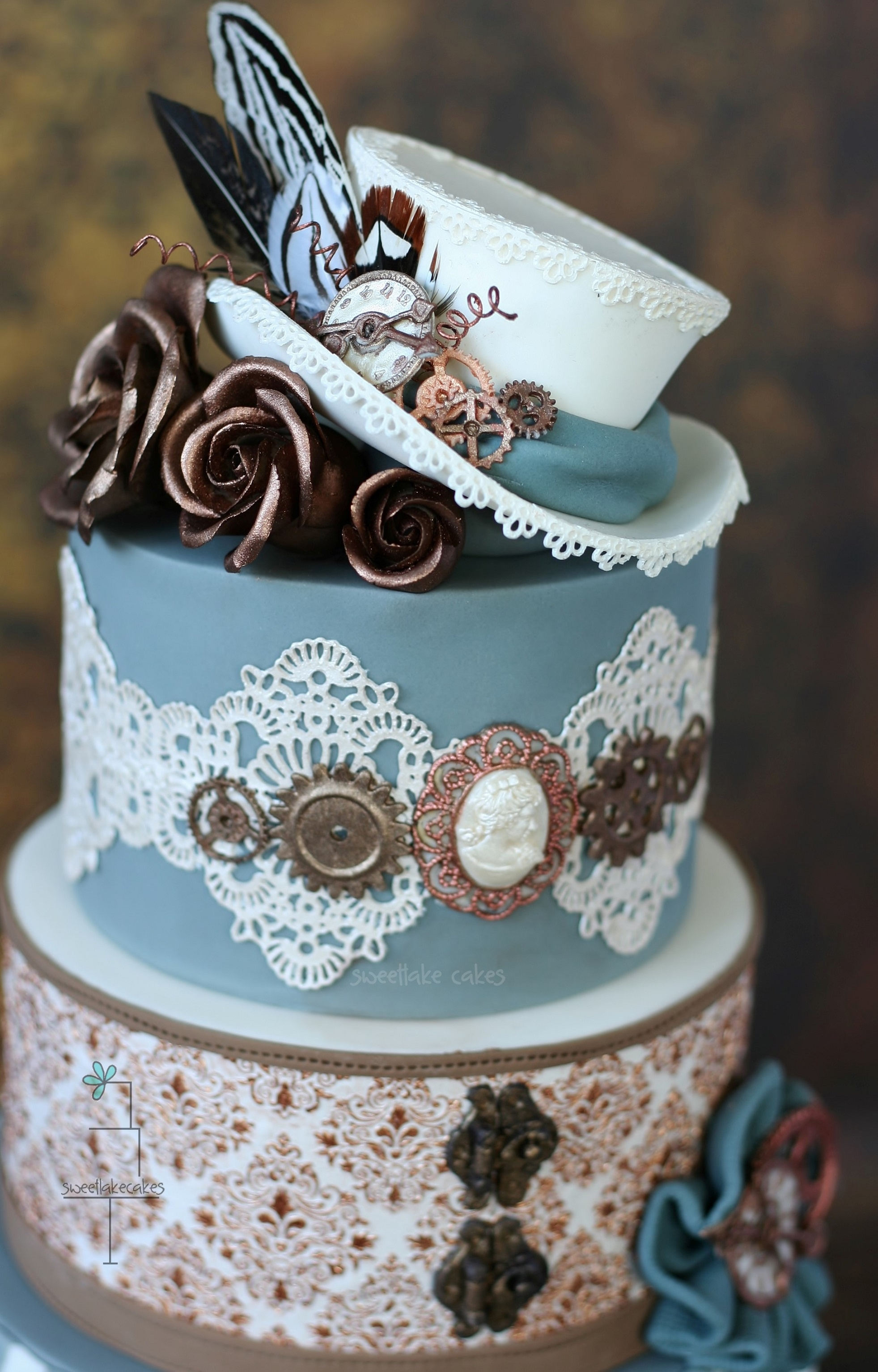 Steampunk Wedding Cake CakeCentral