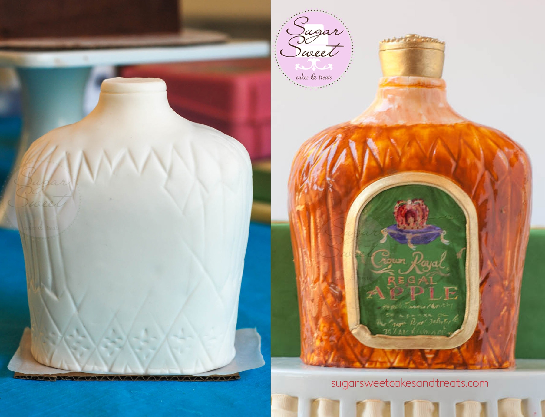 Green Apple Crown Royal Cake