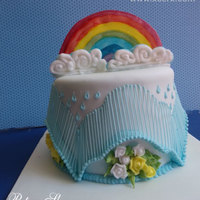 Spring Rainbow All decoration is made with Royal Icing.