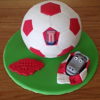 Stoke City Football Birthday Cake Stoke City football birthday cake - All edible