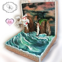"Greek Mythology For Valentine's Day Collaboration I absolutely loved creating this scenical cake for Cake Masters magazine, UK - sculpting is ""my cup of tea""! I am grateful to..."