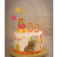 Kitty Cake Request for a cat themed birthday cake. I can't take credit for this design as it was originally done by Cuteology Cakes. I couldn&#...