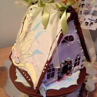 Spring Gingerbread House   gingerbread house and base with royal icing