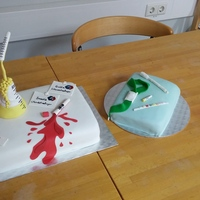Biomedical Scientist Cake did this one for two of my collegue for their last day at work