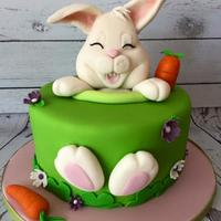 Bunny Cake Easter Cake (inspired by Sogni di Zucchero)