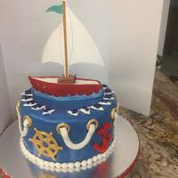 Sailing Gluten Free Dark Chocolate Cake with Dark Chocolate Ganache and Fondant covering and decorations