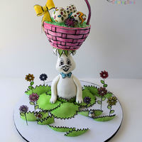 Silly Rabbit This gravity defying cake was made for an Easter Coloring Book Collaboration. The Easter Coloring Book Cake Collaboration is a celebration...