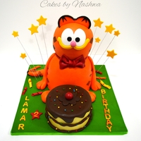 Garfield Garfield cake for a cute girl who will turn Two today