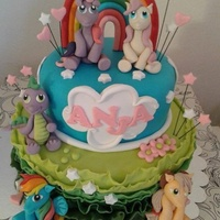 My Little Pony My little pony two tiers cake