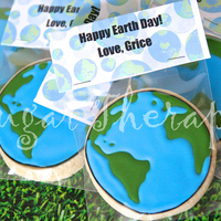 Earth Day Cookies Earth Day cookies
