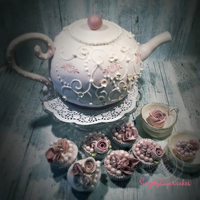 Vintage Teapot A cake project just for fun. https://simplycupncakes.wordpress.com/2015/04/06/vintage-tepotte-kage/