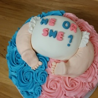Baby Reveal   Baby reveal. Pink Cake and baby décor is RKT and fondant.