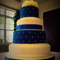 Blue And White Wedding Cake Simple blue and white wedding cake