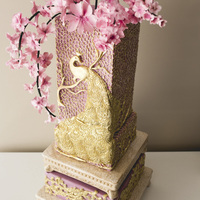 #3 Cake Inspired By Enchanted Garden I created this cake for Bridal Boudoir Affair, classy and unique Montreal bridal show.
