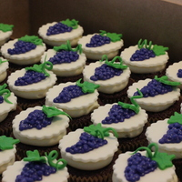 Vineyard Cupcakes Hand made grapes