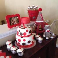 Sock Monkey Party Really cute with the accents! Brown, red and white