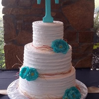 Raffia Wedding Cake   Rustic wedding cake.