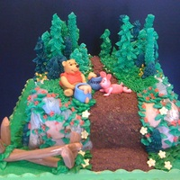 Piglet And Pooh Piglet and Pooh Birthday Cake