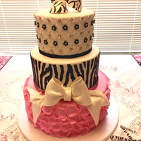 Zebra Baby Shower Beauty This sweet cake was made for a dear friend who had a baby shower for her niece. It was an honor.
