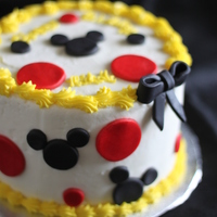 Mickey Mouse Cake Buttercream with fondant decorations