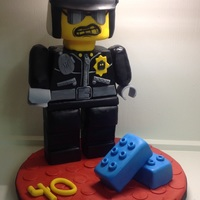 Bad Cop Hubby's 40th Birthday cake.
