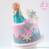 Elsa Mini Cake When asked to make an Elsa themed cake for a 2 year old, and in wanting to make something different and unique, I couldn't help but...