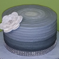 Ombre Cake   Simple, elegant birthday cake.