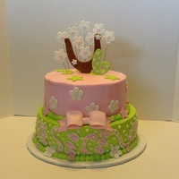 Girl Western Cake   8 &10 inch cakes buttercream and mmf accents