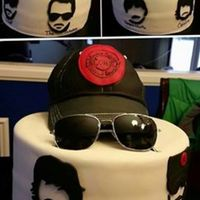 Eric Church Cake  One of my most favorite cakes ever. Loved making this. Everything is edible and cake, except for the sunglasses. The brim of the hat is...