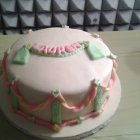 Baby Shower Vanilla-rum and chocolate cake with Nutella filling and MMF
