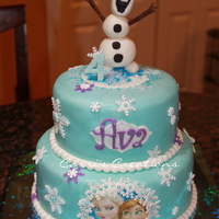 """frozen"" Birthday Olaf Cake"