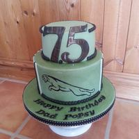 Jaguar For My Dad  Dads 75th BirthdayAlways wanted a British Racing Green Jag and now he has, aswell as this cakeQuaint Cakes Treacle and Ginger top tier, QC...