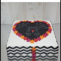 Best Friends Forever This cake is for two best friends. Chalkboard design with black chevron