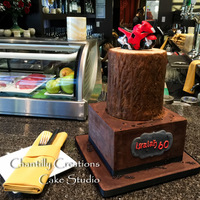 Chocolate Ganache, Tree Birthday Cake Chocolate ganache, tree birthday cake by Chantilly Creations - Sandra Joanis