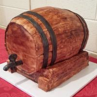 Medieval Wine Cask This large cake was carved to look like a medieval style wine cask or barrel, in a wood stand. It was served at a dessert revel during a...